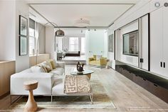 Anderson Cooper's penthouse living room. As classy as the man himself.