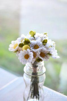 Daisy & Billy Ball Bouquet / Handmade Felt by LeaphBoutique