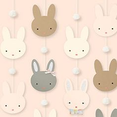 Find craft ideas, inspiration and supplies in all different colors, patterns and themes from Paper Source! Bunny Party, Easter Party, Bunny Birthday, 1st Birthday Parties, Decoration Creche, Theme Mickey, Easy Diy Crafts, Fun Crafts, Bunny Drawing