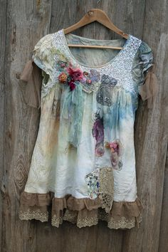 RESERVEDPART PAYMENT Aquarell tunic whimsy by FleursBoheme