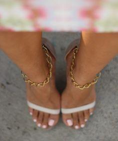DIY Chain Strap Heels