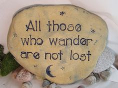 Garden art Tolkien quote stepping stone for the by Poemstones, $24.00