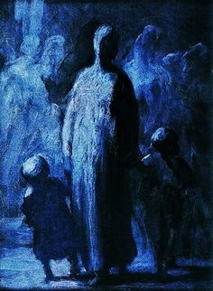 Find images and videos about art, blue and painting on We Heart It - the app to get lost in what you love. Honore Daumier, Illustration, Wood Engraving, Romanticism, Figure Painting, Black Art, Artist At Work, Art Blog, Art History