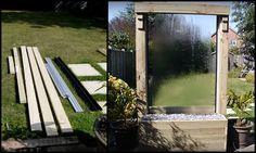 DIY Glass Water Wall