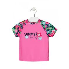 Μαγιό : Losan Μπλουζακι με προστασια ... Beach Day, Summer Beach, Crop Tops, Women, Fashion, Hot Pink, Sleeves, Moda, Fashion Styles