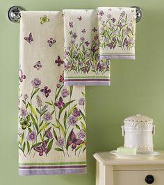 Butterfly Garden 3 Pc Towel Set