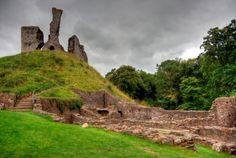 Okehampton Castle, Devon, England.