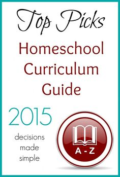 Have you seen the Top Picks Homeschool Curriculum Guide?  Lots of good stuff here for you to check out!