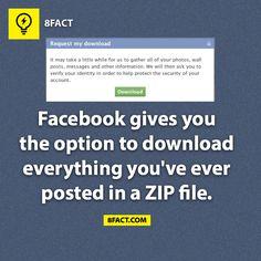 Facebook Downloads Your Profile #Infographic #SMM #Marketing #Facebook
