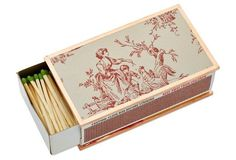 Red Toile Matchbox