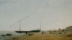 "Eugène Fromentin:  ""On the Nile, Near Philae"", 1871, Oil on canvas, 63,8 x 110,6 cm, Art Instituute of Chicago."