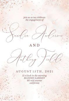 Blush Gold Spots - Engagement Party Invitation #invitations #printable #diy #template #Engagement #party #wedding