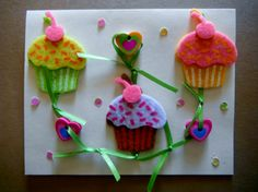 cup cake card
