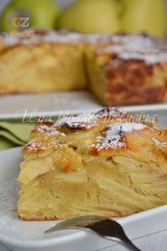Torta Fondente di Mele e Ricotta Apple Recipes, Sweet Recipes, Cake Recipes, Dessert Recipes, Kitchen Recipes, Cooking Recipes, Light Cakes, Torte Cake, Pastry And Bakery