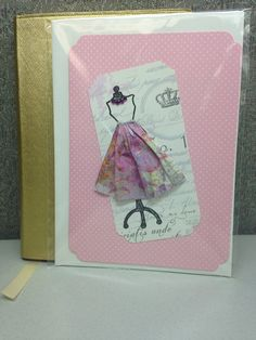 """3-D Dress """"Any occasion"""" card"""