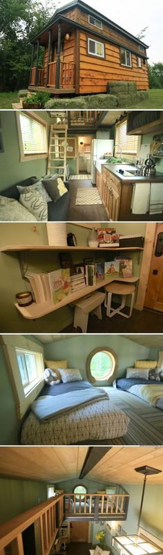 The Minnesota Prarie Cottage (207 sq ft): a tiny house deigned for a family with two young children