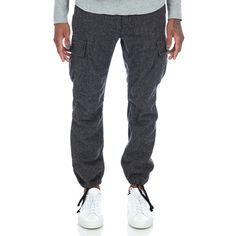 Engineered Garments BDU Pant in Grey 13 oz Wool Flannel Front