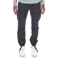 Engineered Garments BDU Pant in Grey 13 oz Wool Flannel Front