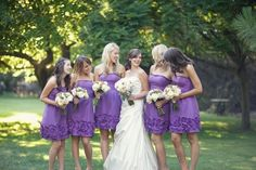 Lovely Detail to these Lavender Dresses