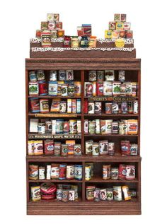 Two Dry Goods Store Display Articles, Height of cupboard 8 x width 6 inches