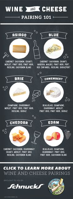 Wine & Cheese 101!  Pair wine and cheese like the pros when you use our guides. #cheesepairings #schnucks #cheese