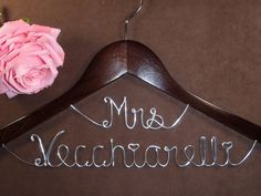 Hanger+Deluxe+Mrs+on+Top+Personalized+Custom+Bridal+by+einspanner,+$24.99