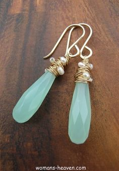 """redo earrings for an updated look, just happen to have this exact """"glass"""" earring(looks worn)"""