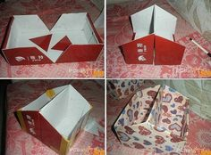 Diy with a shoe box Home Crafts, Diy And Crafts, Arts And Crafts, Paper Crafts, Recycled Shoes, Do It Yourself Home, Diy Organization, Diy Projects To Try, Shoe Box