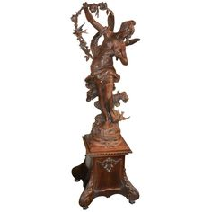 """19th Century """"The Messagere Du Printemps"""" by Louis Moreau   From a unique collection of antique and modern sculptures at https://www.1stdibs.com/furniture/decorative-objects/sculptures/"""