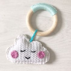 Crochet Baby Toys, Knit Or Crochet, Crochet For Kids, Free Crochet, Baby Patterns, Crochet Patterns, Baby Rattle, Free Pattern, Crochet Earrings