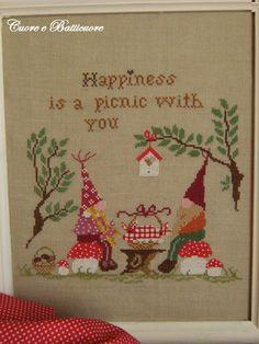 Picnic nel bosco From Cuore e Batticuore - Cross Stitch Charts - Embroidery - Casa Cenina