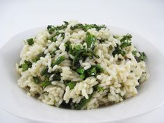 Skinny and Dreamy, Vegetarian Broccolini Risotto #MeatlessMonday