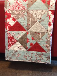 Quilt, made from Moda Winter Lane fabrics, love how it turned out!