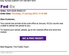 Fed Ex malware emails continue to hit inboxes. #malware #fedex