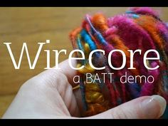 How to Corespin a Wirecore Yarn - YouTube