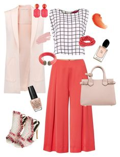 """""""Coral craze"""" by naomi-mann on Polyvore featuring Rebecca Minkoff, Marella, Latelita, Burberry, Topshop, Jane Iredale, Armani Beauty and OPI"""