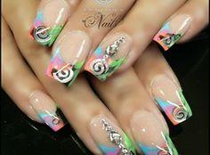 Snow Flake Festive Nails! by Teena