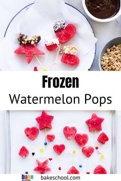 These frozen watermelon pops are very easy to make so this recipe makes a great summer activity with the kids (or the adults). Frozen watermelon pops make a healthy summertime treat! Chocolate Dipped Fruit, Best Chocolate Desserts, Chocolate Pies, Chocolate Frosting, Melting Chocolate, Chocolate Chip Cookies, Watermelon Popsicles, Frozen Watermelon, Watermelon Recipes
