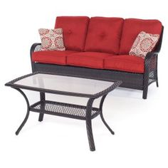 Hanover Orleans Wicker Lounge Set - For spot-on Southern style and comfort, look no further than the Hanover Orleans Wicker…