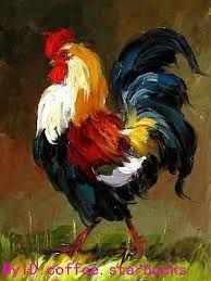 Resultado de imagen para pinturas de gallos al oleo | gallos ...