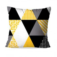 New Print, Throw Pillows, Design, Future, Products, Board, Vivid Colors, Pillow Covers, Yellow