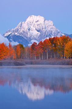 Mt. Moran Reflection - Grand Teton National Park, Wyoming, United States.