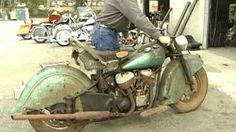 After+Forty+Years+Of+Not+Running+This+1948+Indian+Chief+Motorcycle+Roars+Once+Again!+-+In+the+late+1940's+Indian+Motorbikes+was+a+major+bike+producer+and+in+1948+the