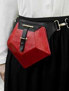 PENTAGONE Leather Bum Bag When high-end style by HandsOfOizo