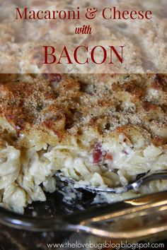 Mac 'n Cheese with Bacon #comfortfood