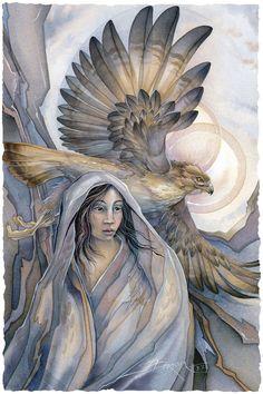 Bergsma Gallery Press::Paintings::Nature::Birds::Birds of Prey::Lady Hawk - Prints