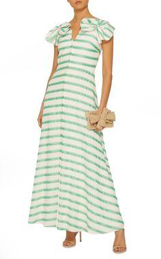 eece203723 Bow-Embellished Striped Midi Dress by DELPOZO Now Available on Moda  Operandi City Fashion