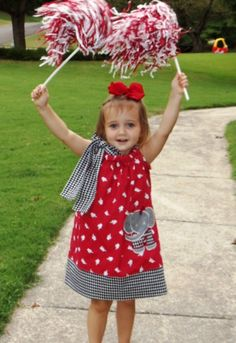 Boutique Elephant & Houndstooth Football Dress - Roll Tide, Alabama, Mother Daughter, American Girl   ( This is too Cute )