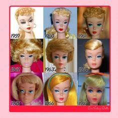 Evolución de la muñeca Barbie – LoveVintageDolls