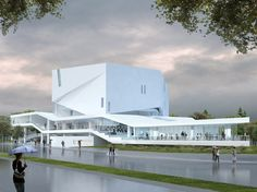 The recently unveiled renderings for the Mashouf Performing Arts Center at San Francisco State University (SFSU), feature not just one new building...